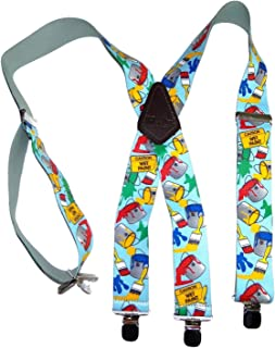 """product image for Holdup Tradesman Series 2"""" Wide X-back Suspender in Painter Pattern with w/No-slip Silver Clips"""