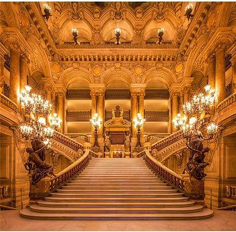 8 x 8FT belleza Golden salón escaleras escalera fotografía de bodas velas fiesta de cumpleaños de fondo para fotografía de fotos de Custom 240 cm x 240 cm: Amazon.es: Electrónica