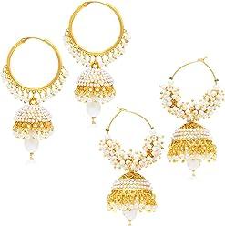 Sukkhi Jhumki Earrings for Women (Golden) (328CB1450)