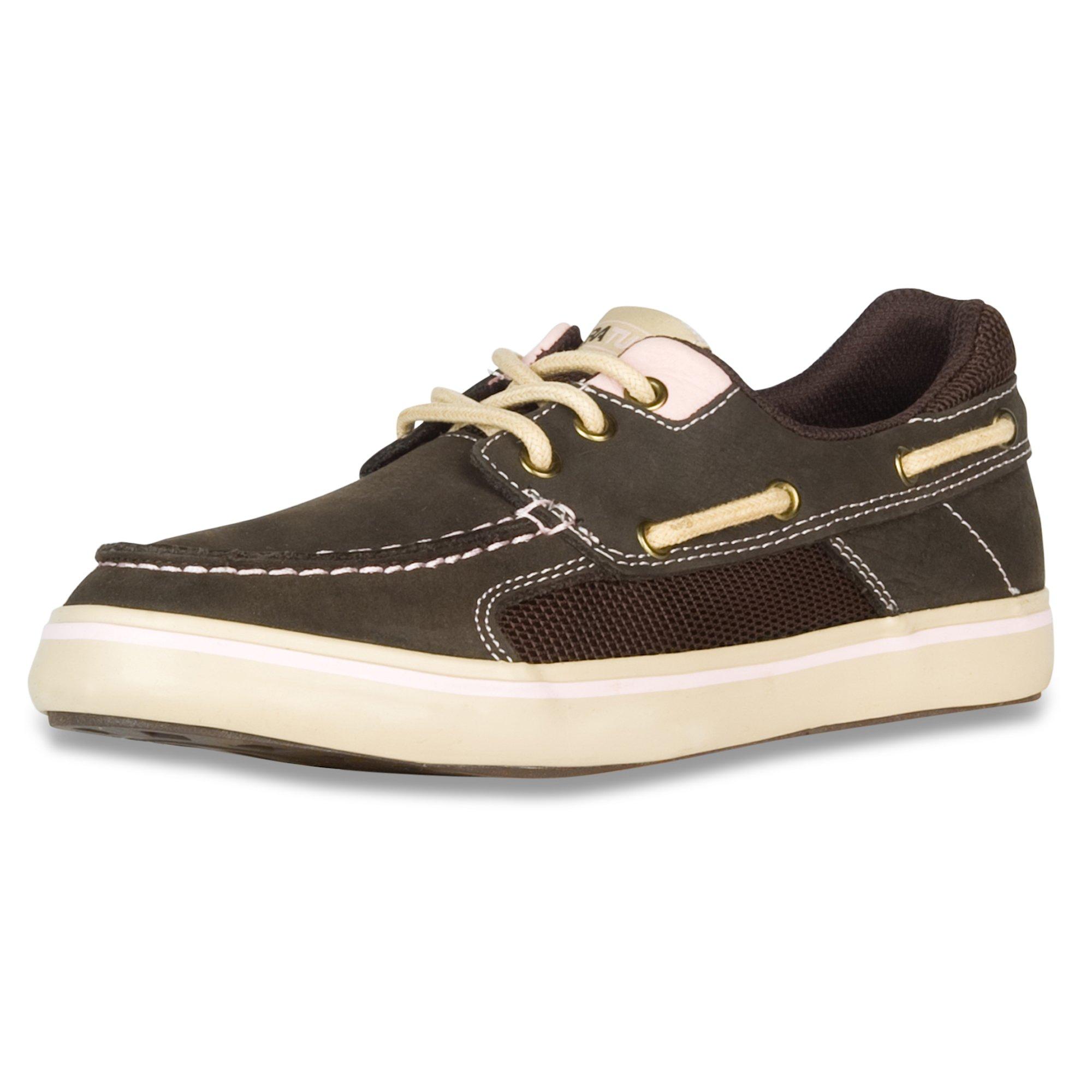 XTRATUF Finatic II Women's Leather Deck Shoes, Chocolate & Tan (22308)