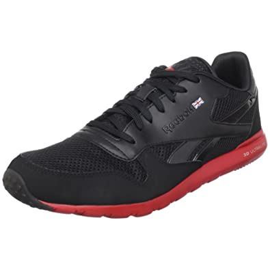 Reebok Men's Classic Leather Clean Ultralite Sneaker,BlackHavana RedPure Silver,