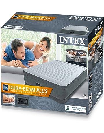 Colchón hinchable de Intex, con inflador incluido, 152 x 203 x 46 cm (