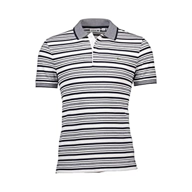 Lacoste PH3301- X68 - Camiseta Polo, Blanco/Azul Oscuro, 7: Amazon ...