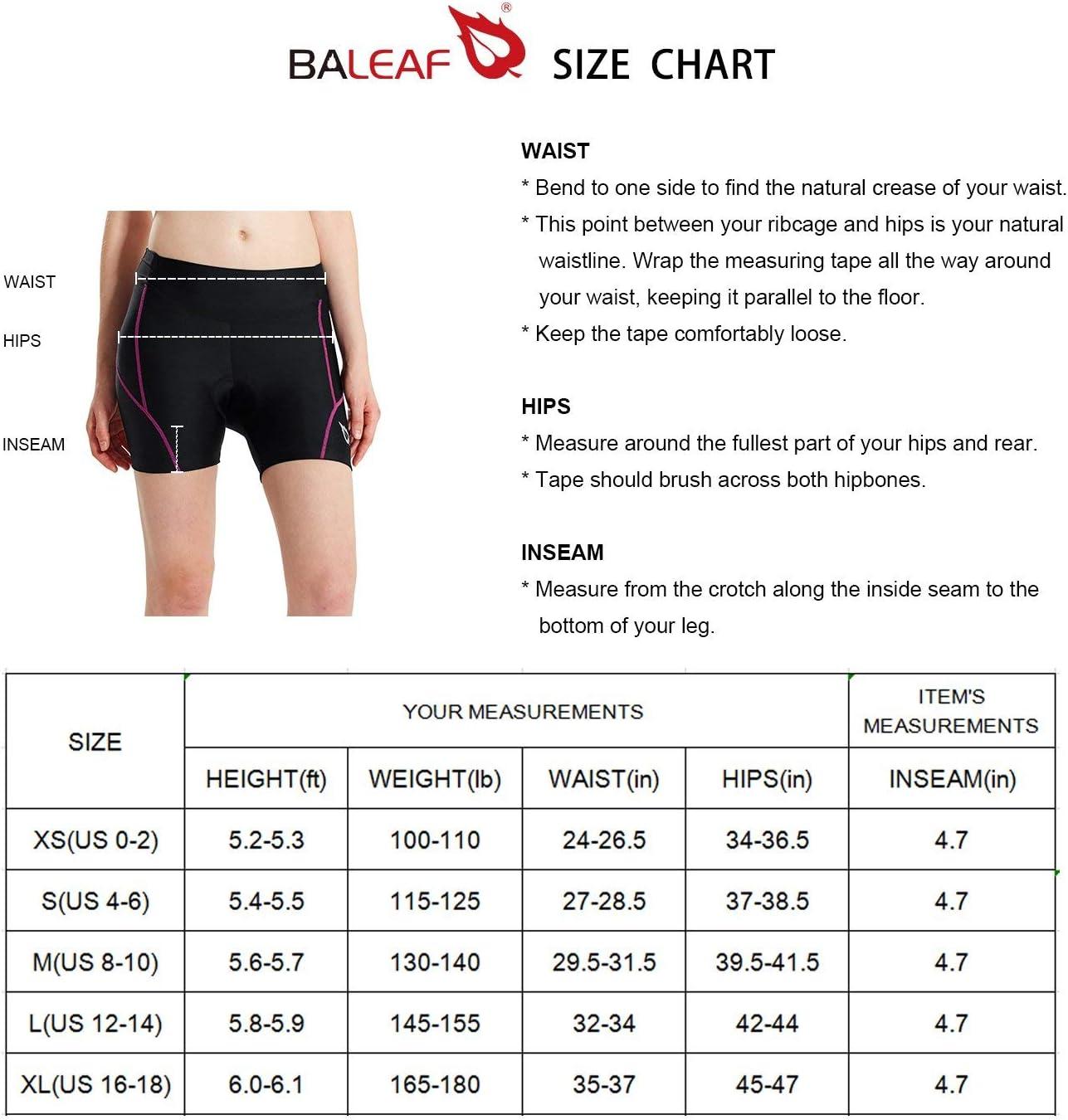 Bike Shorts Underwear BALEAF Womens Cycling Shorts 3D Padded UPF 50