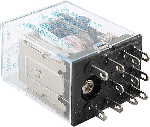 AC 220V Bobina 3PDT rele HH53P 11 Pin con Base Enchufe R TOOGOO