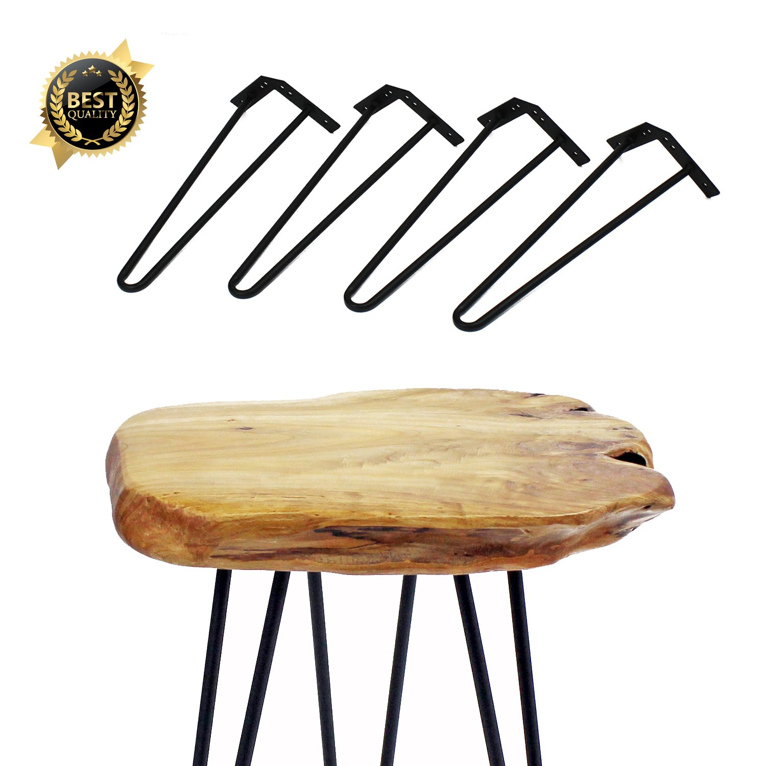 Set of 4 14'' Furniture Hairpin Metal Legs (14-inch) Heavy Duty Use for Wood Tabletop
