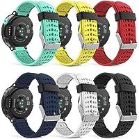 MoKo Armband för Garmin Forerunner 235/235 Lite / 220/230/620/630/735 – silikon ersättning klockarmband justerbart…