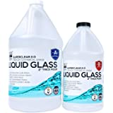 Deep Pour Epoxy Resin Kit Crystal Clear Liquid Glass 2-4 inch 1½ GL, Self Leveling Epoxy Kit, Clear Epoxy Resin Wood Filler,