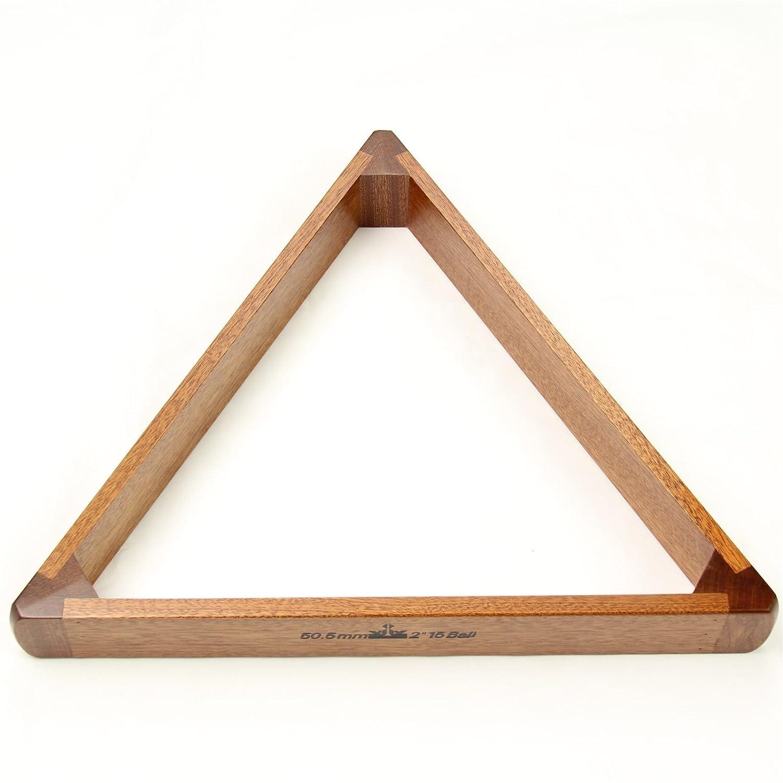 Mahogany Peradon 15 Ball Wooden Snooker Triangle for 2 inch balls