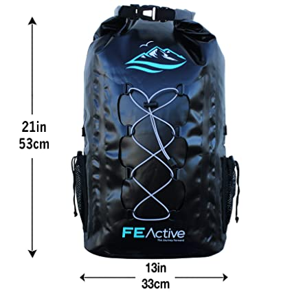 e551f2b29e42 Amazon.com   FE Active - 30L Eco Friendly Waterproof Dry Bag Backpack Great  for All Outdoor and Water Related Activities. Padded Shoulder Straps