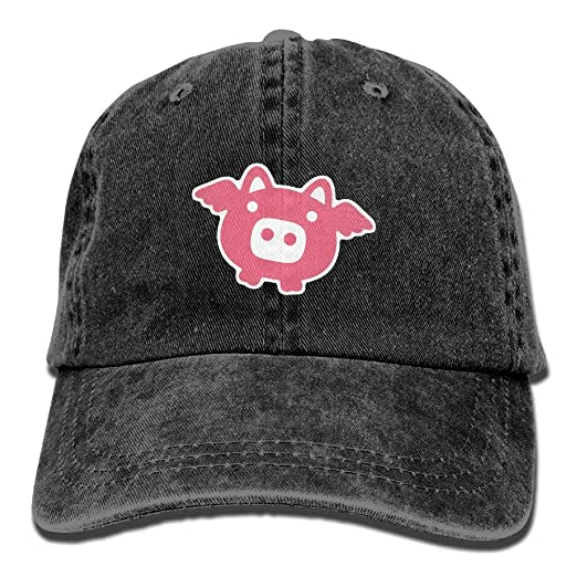 6a597e6988fa3 Image Unavailable. Image not available for. Color  Danlive Baseball Cap  Pink Pig - Adjustable Trucker Hat ...