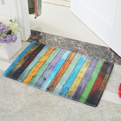Newdanceus Doormats Entrance Rug Indoor/Outdoor Super Absorbs Non Slip Door  Mat For Small Front