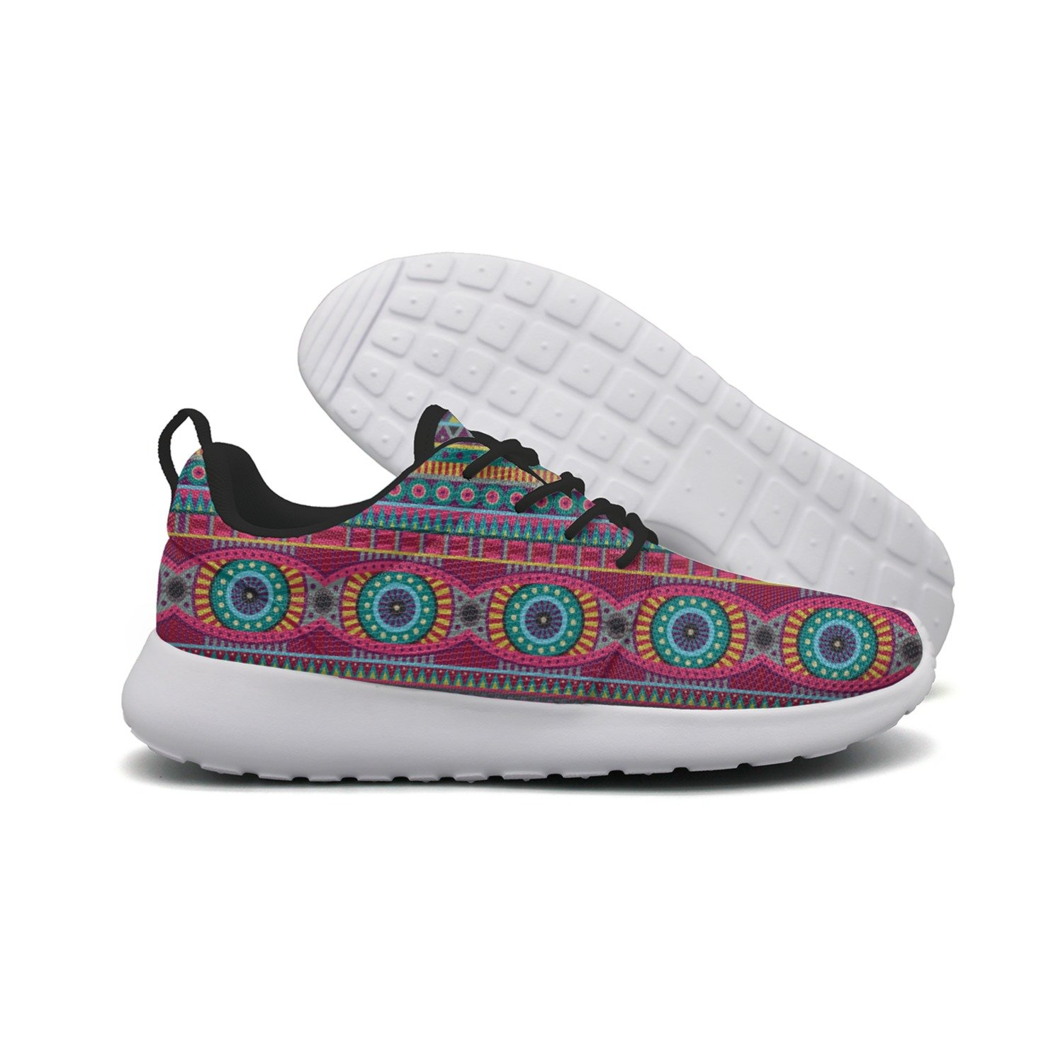 FUFGT Flower Pattern Of African Women Camping Design Running Shoes Navy Colorful