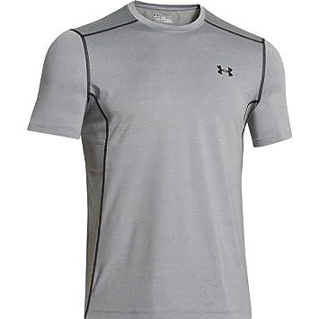 Under Armour UA Raid SS Camiseta de Manga Corta, Hombre, True Gray Heather (025), XL: Amazon.es: Deportes y aire libre