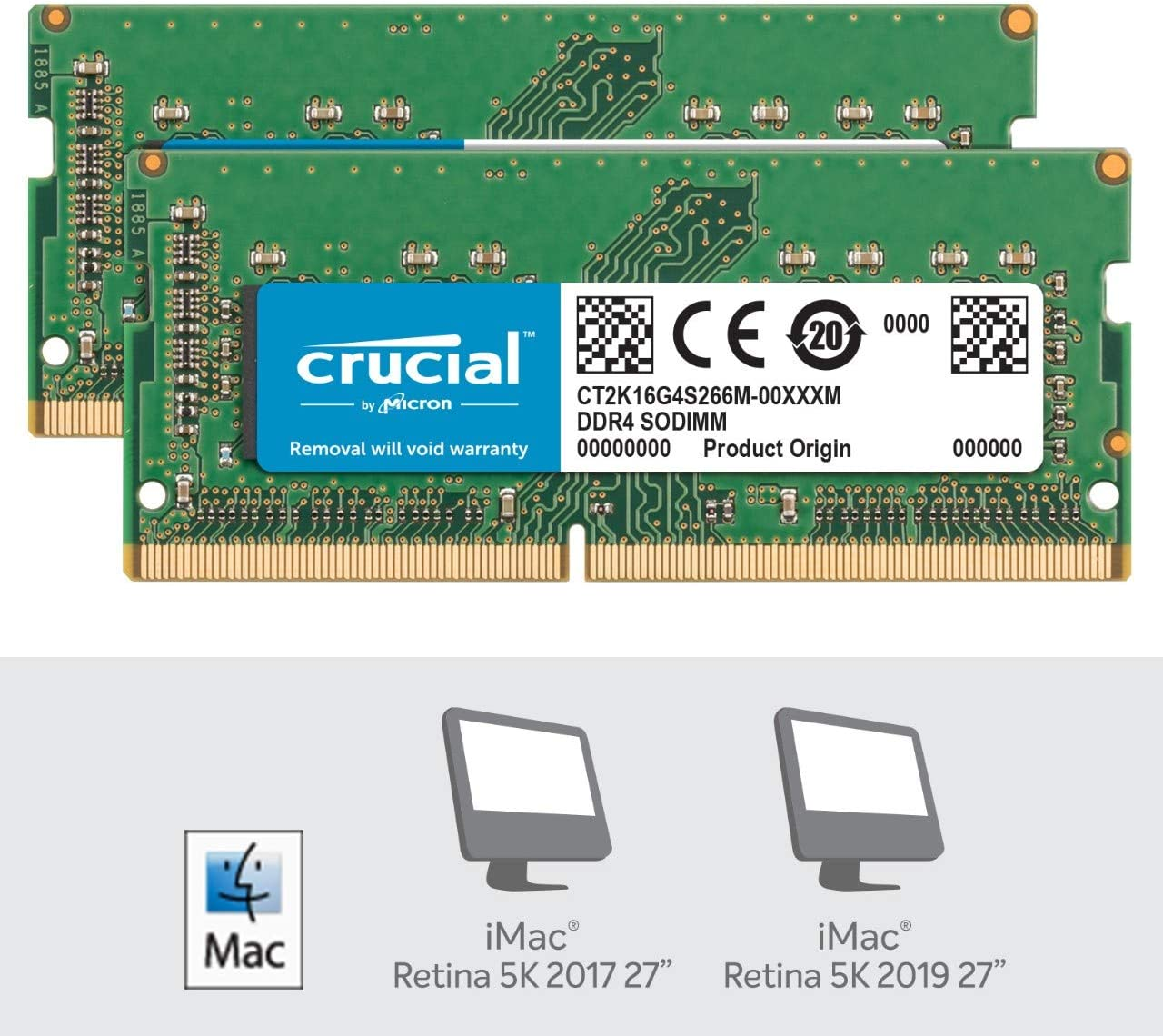 PC4-19200 SR x8 SODIMM 260-Pin for Mac CT8G4S24AM Crucial 8GB Single DDR4 2400 MT//s