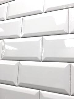 Delicieux 3x6 White Glossy Finish Beveled Ceramic Subway Tile Shower Walls  Backsplashes