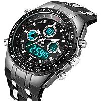 FOVICN Mens Analogue Sports Watch- Men Military Fashion Luxury Wrist Watches for Men Business Dress Waterproof Casual Quartz Watch for Man
