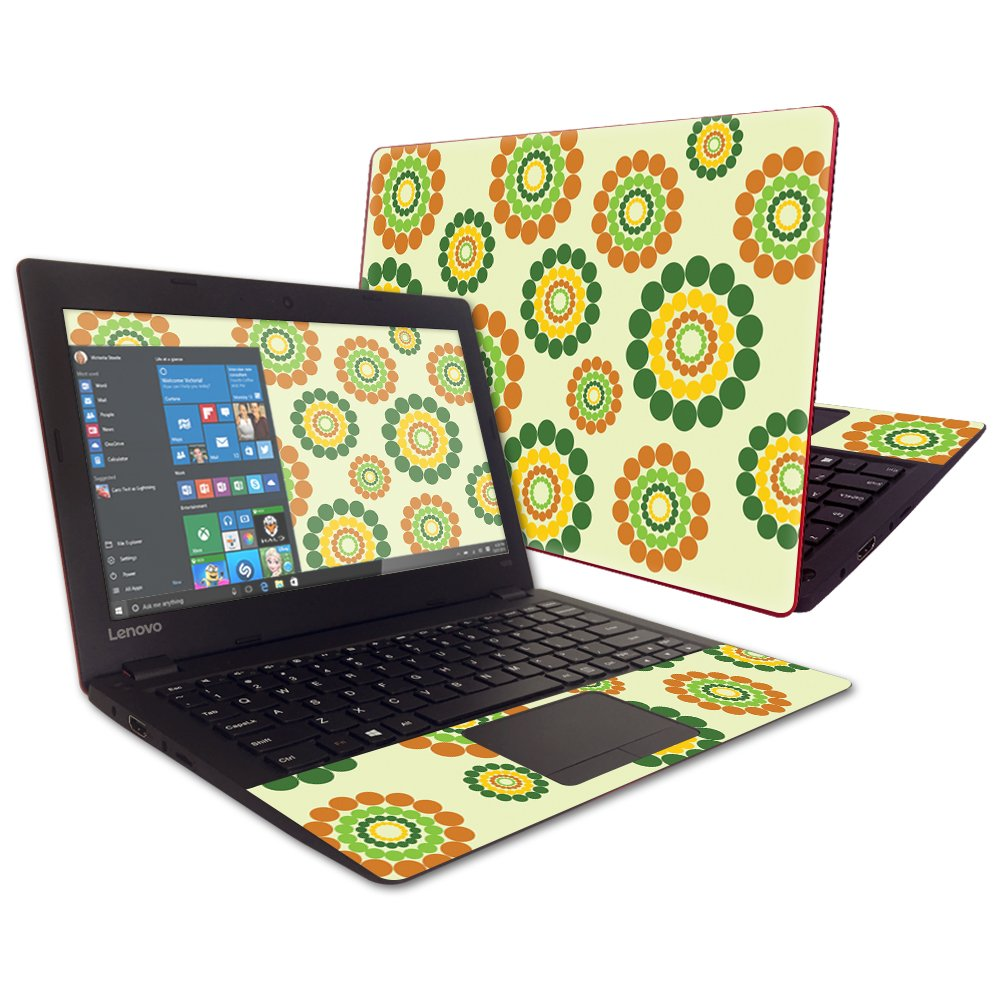 MightySkins Protective Vinyl Skin Decal for Lenovo IdeaPad 100s 11.6'' wrap cover sticker skins Flower Power