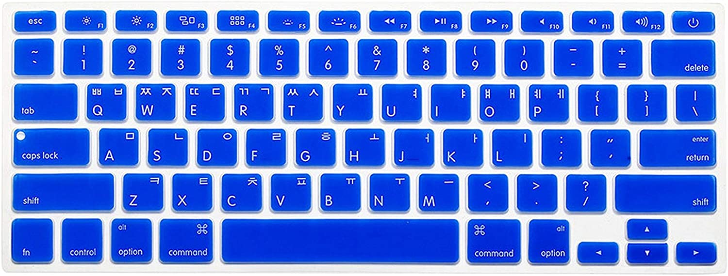 New Korean Keyboard US Version Silicone Protector Stickers Skin for MacBook Air 13 Mac Pro 13 15 17 Retina Keyboard Cover-Mint Green