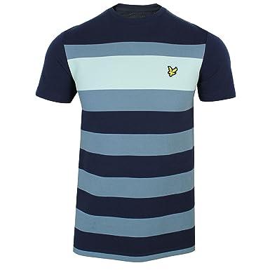 e1953c811 Lyle & Scott ts822v texturierten Streifen T-Shirt Navy: Amazon.de ...