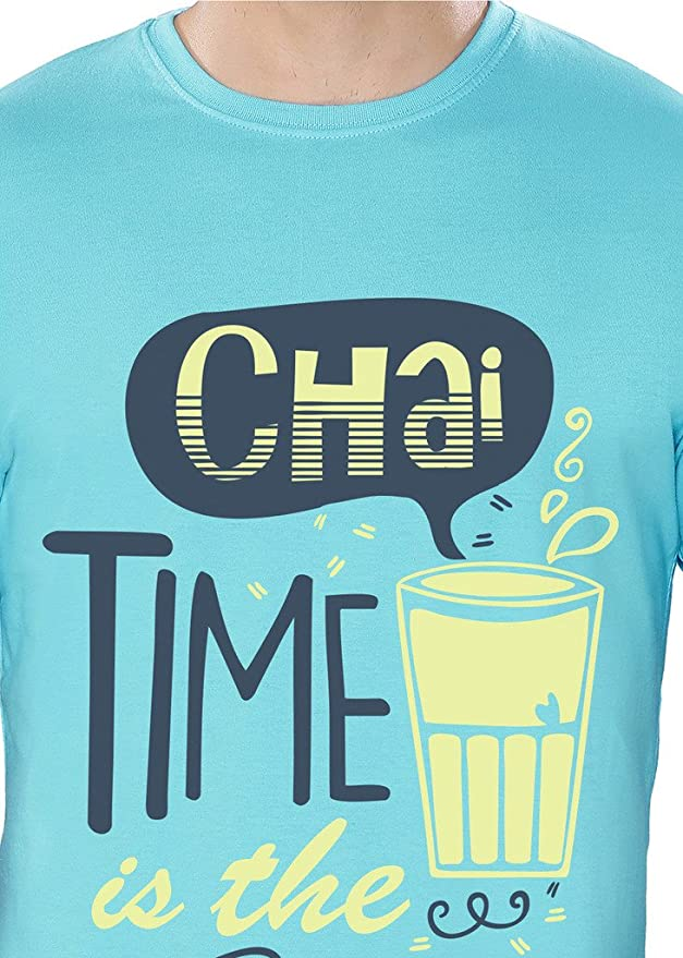 c131d31a2 The Souled Store Chai Time (Light Blue) Cotton Printed T-Shirt for Men  Women and Girls: Amazon.in: Clothing & Accessories