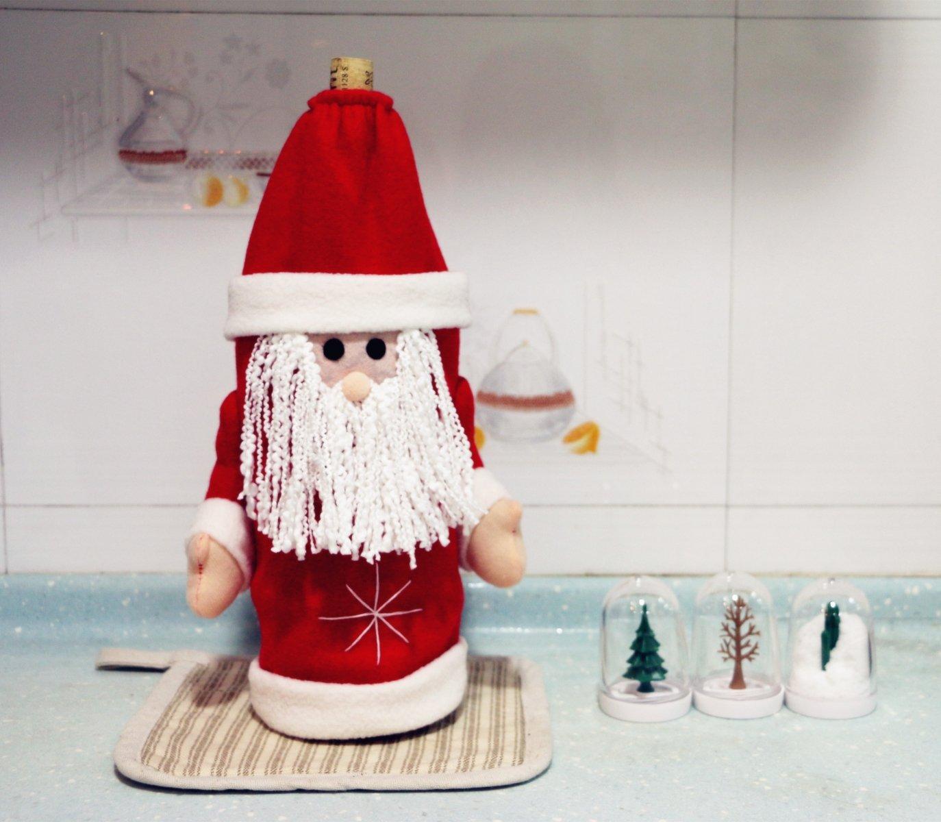 Ohuhu Copribottiglia con Disegno di Babbo Natale
