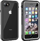 iPhone8 ケース iPhone7 ケース 防水ケース 耐衝撃ケース 4.7インチ対応 360°全方向保護 米軍MIL規格取得 フェイスID認証 Qi充電対応 超軽量 塵 キズ·落下防止 高耐久ケース 風呂 雨 プール 海
