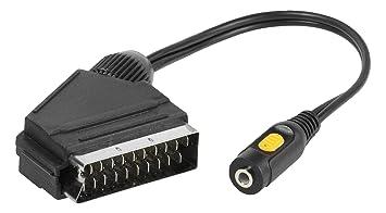 Vivanco 4008928421552 0.15m RCA SCART (21-Pin) Negro Adaptador de Cable de