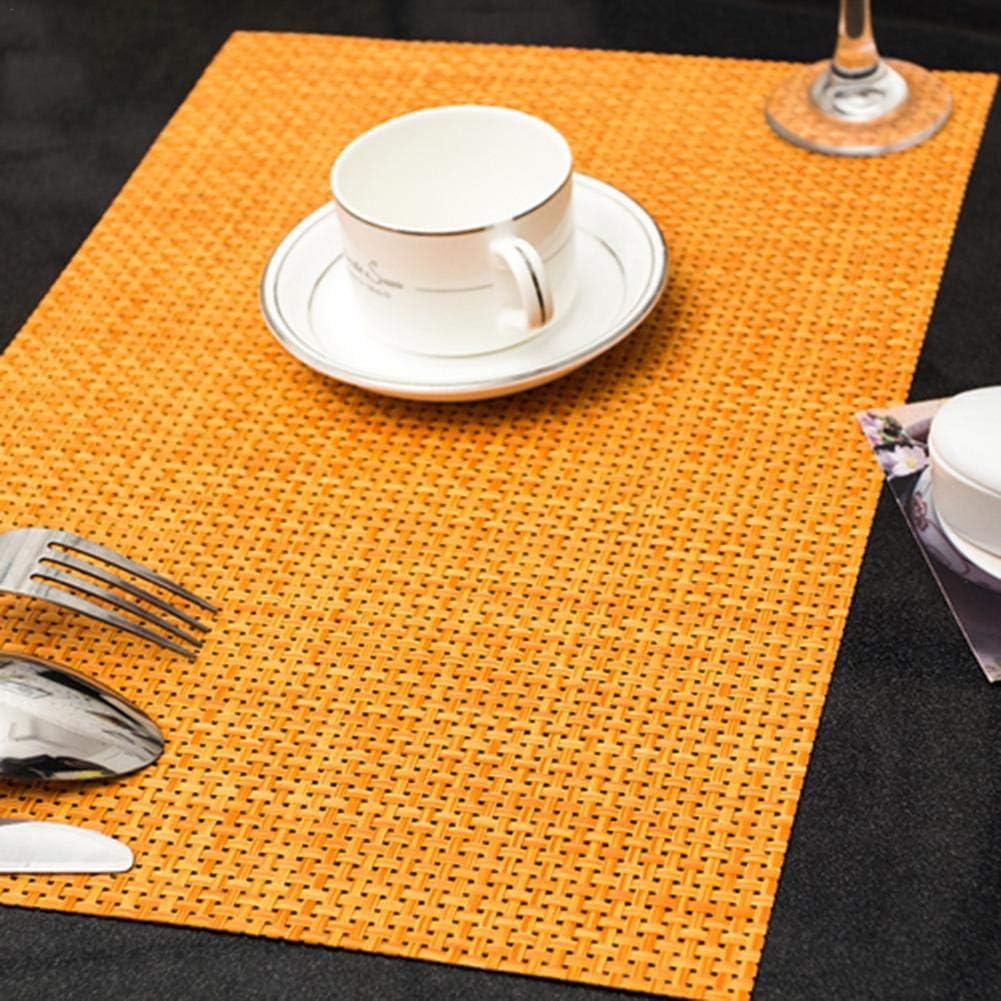 heresell 4PCS Sets de Table /Écologiques PVC Europ/éen Set de Table Antiderapant Isolant Western Rectangulaire Style Japonais Set de Table Simple Coasters Bowl West Restauran