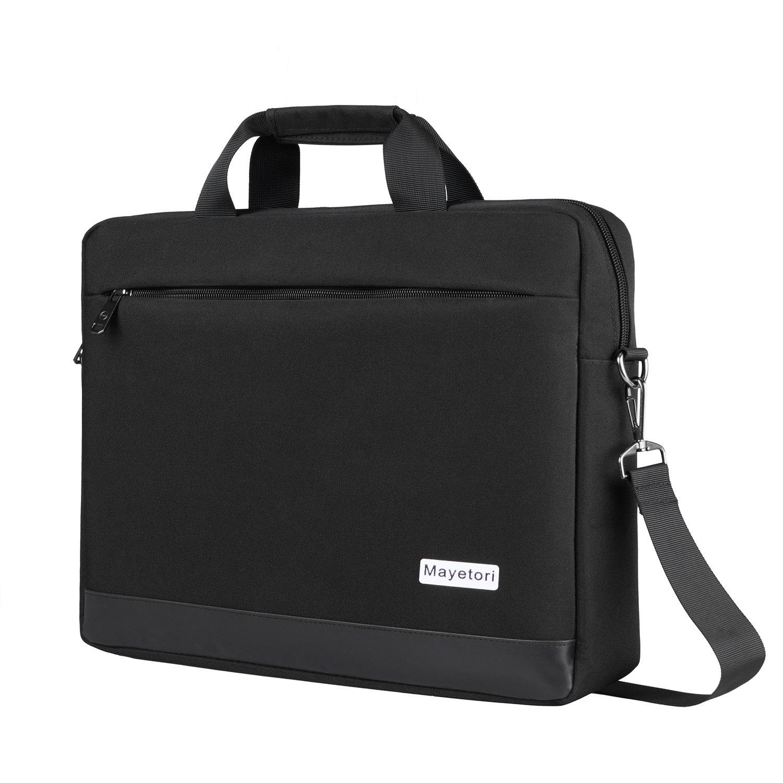Laptop Bag, Mayetori 15.6 Inch Laptop Briefcase for Men Women College Student, Business Computer Messenger Shoulder Bag, Water Resistant Laptop Case for Notebook MacBook Tablet