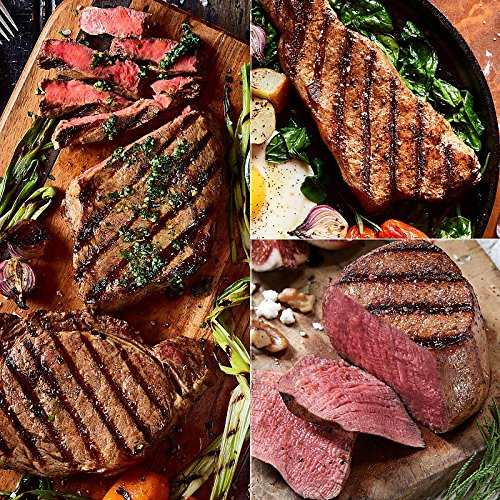 Classic Cuts Trio Sampler - 2 (6 oz) Super Trimmed Filet Mignon, 2 (10 oz) Ribeyes and 2 (10 oz) Kansas City ()