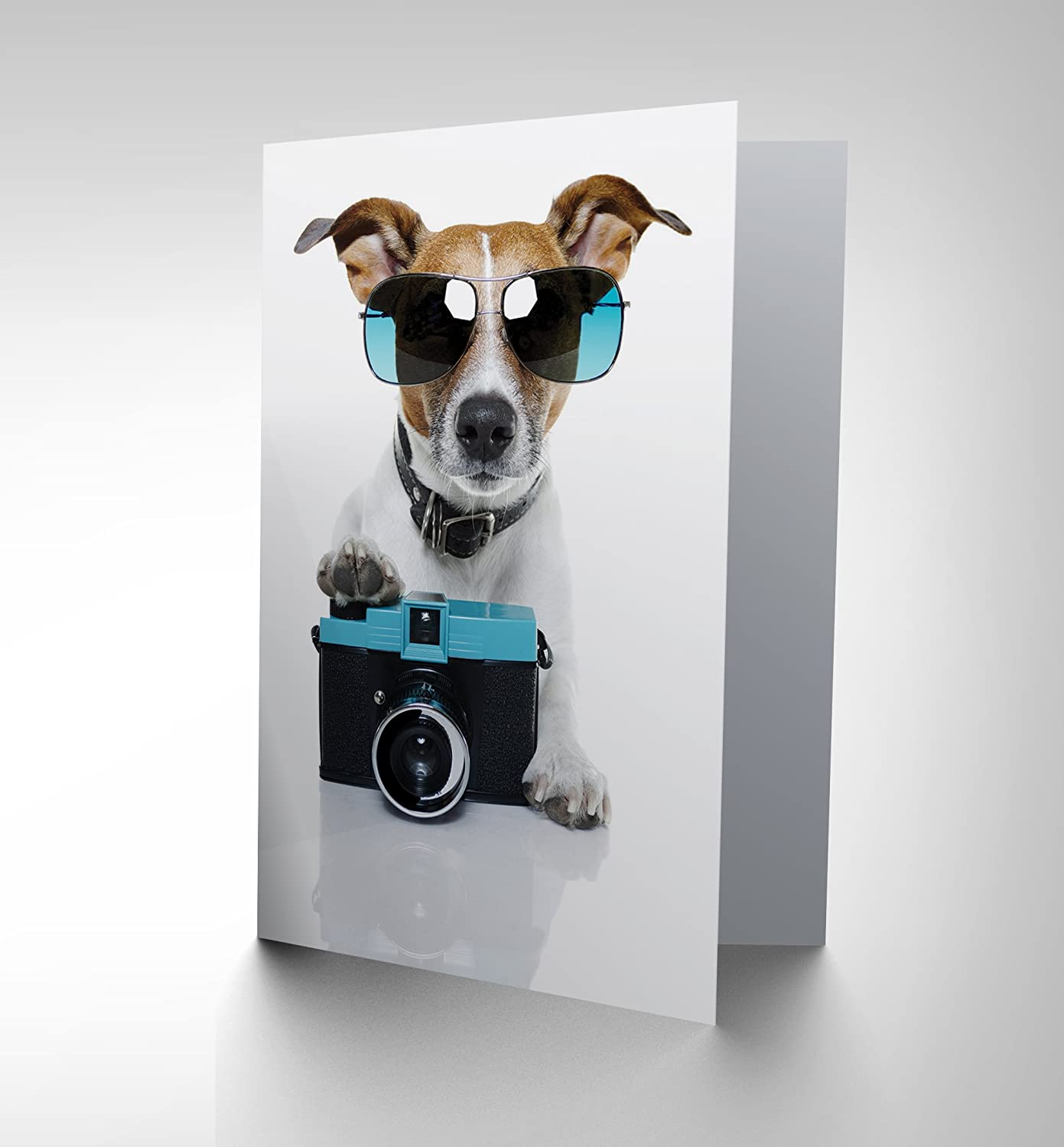 Cool jack russell dog camera photo sunglasses blank birthday card cool jack russell dog camera photo sunglasses blank birthday card cp019 amazon office products bookmarktalkfo Image collections