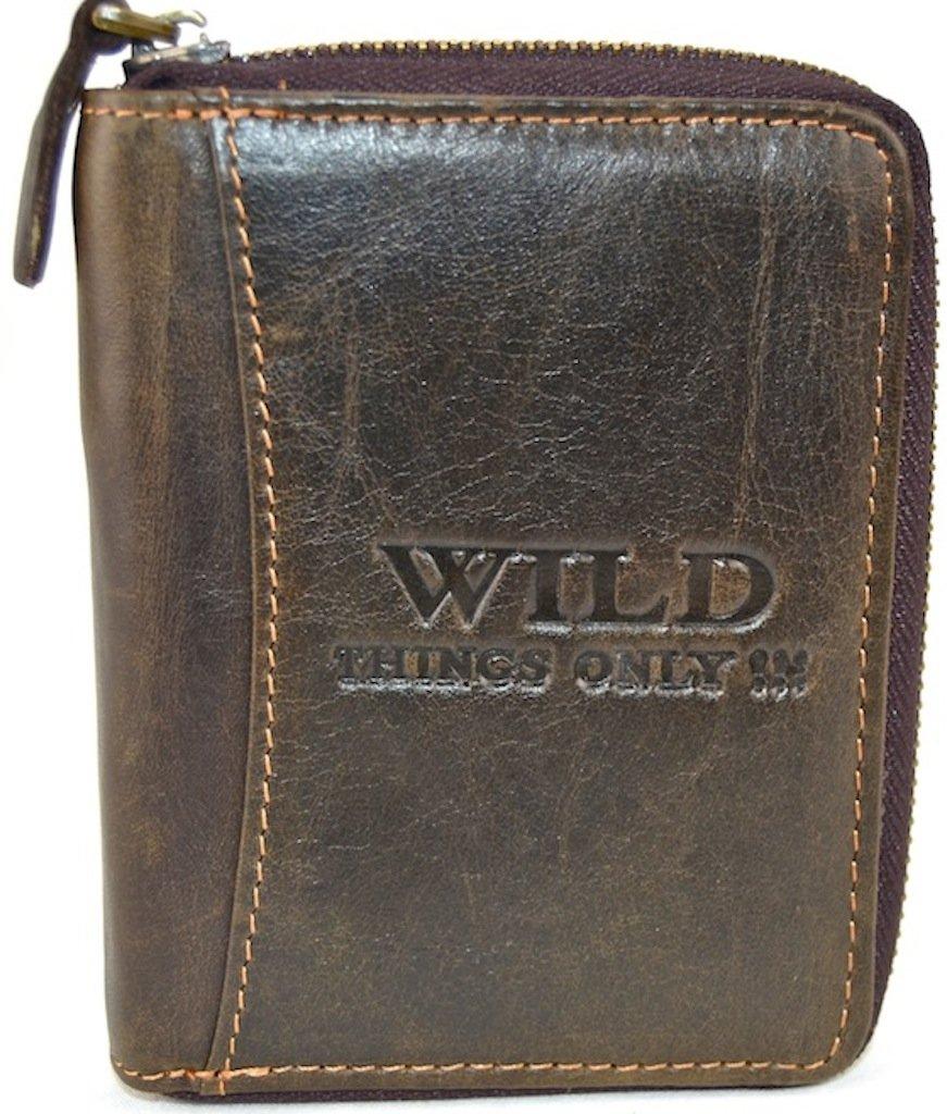 Portafoglio in pelle Wild Things Only (marrone scuro)