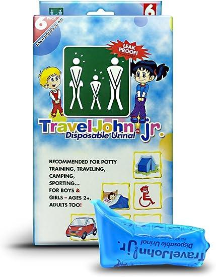 6 Pack TravelJohn-Disposable Urinal