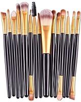 Han Shi Brushes, Fashion Eye Shadow Foundation Eyebrow Lip Brush Makeup Tool Set 15pcs