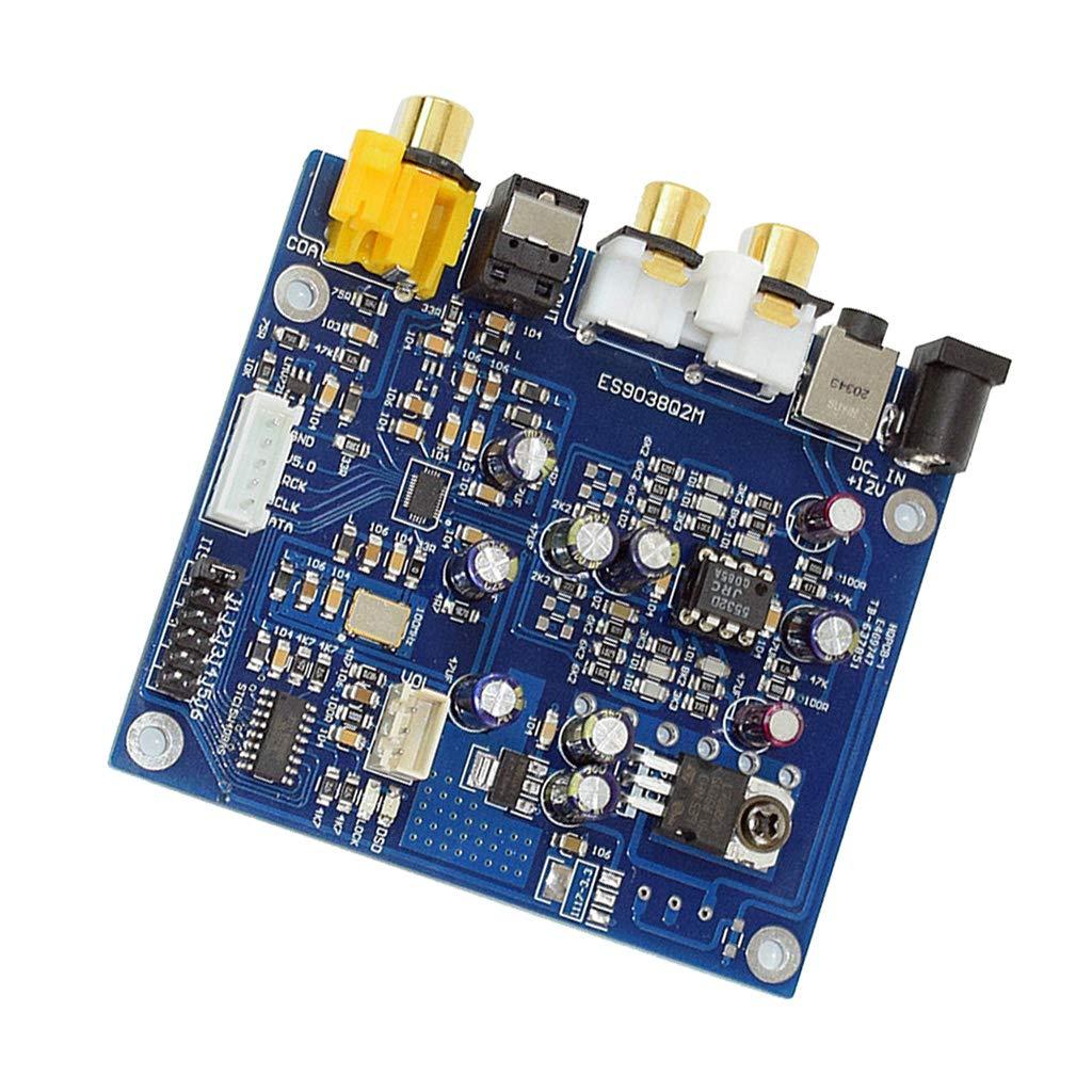 KESOTO YJ-ES9038 Q2M I2S DSD Fibra di Ingresso Coassiale Decodificatore DAC Audio Amplifier Board