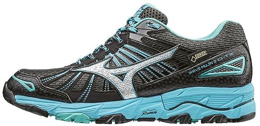 Mizuno SS17 Womens Wave Mujin 3 GTX Trail Running Shoes - Black/Blue - UK