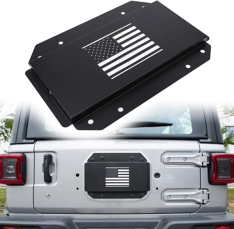 u-Box Steel EVO Spare Tire Delete Tailgate Vent-Plate Cover Jeep Wrangler JK 2007-2018