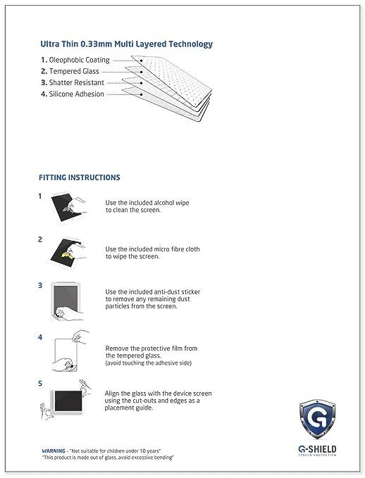 G-Shield Protector de Pantalla para Samsung Galaxy Note Pro 12.2 Pulgadas, Cristal Vidrio Templado, 9H Dureza, Anti-Arañazos, HD Alta Definicion, ...