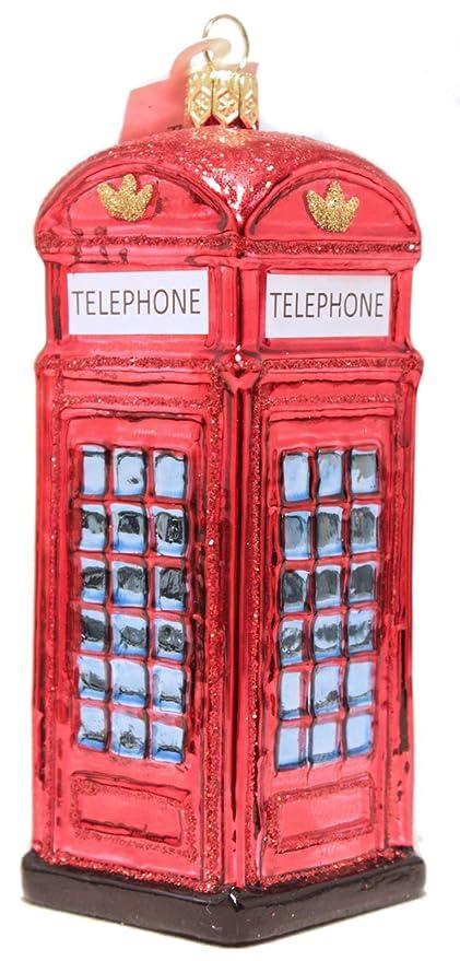 Amazon Com London Telephone Booth Polish Mouth Blown Glass