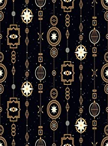 Llsty Poster Stars Magical Golden Garlands Useful Magic Esoteric Alchemy Mystic Sacred Mural Print Artwork Home Decoration Advanced Perfect Suitable for Bedroom Office Decor 24x36 Inch