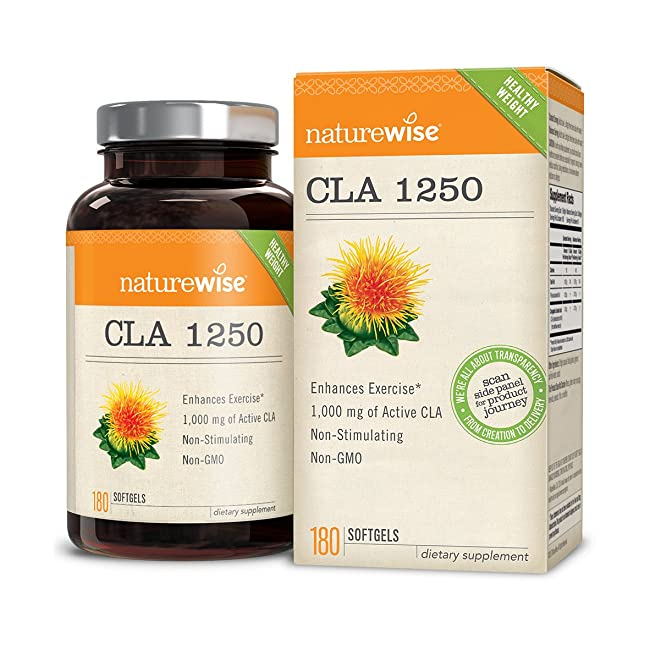 NatureWise CLA 1250, High Potency, Natural Wei...