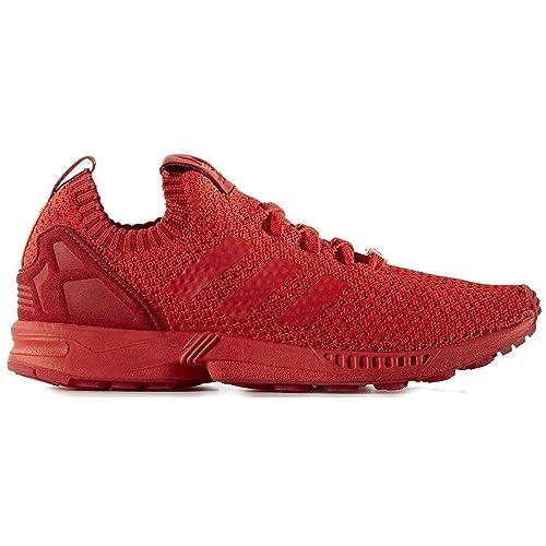 ramasser 59000 b26f6 adidas ZX Flux Primeknit Homme Baskets Rouge s76497 - Rouge ...