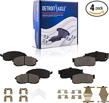 Front Ceramic Brake Pad Set /& Rotor Kit for 1999-2001 Infiniti G20