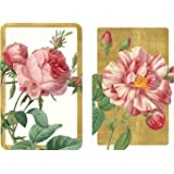 Entertaining with Caspari Double Deck of Bridge Playing Cards, Roses