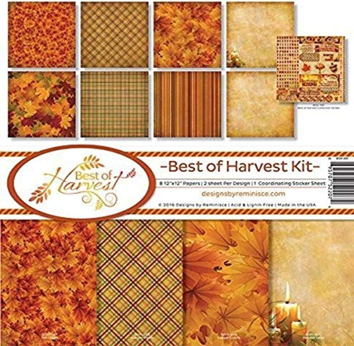 Reminisce Scrapbook Best of Harvest Collection Kit