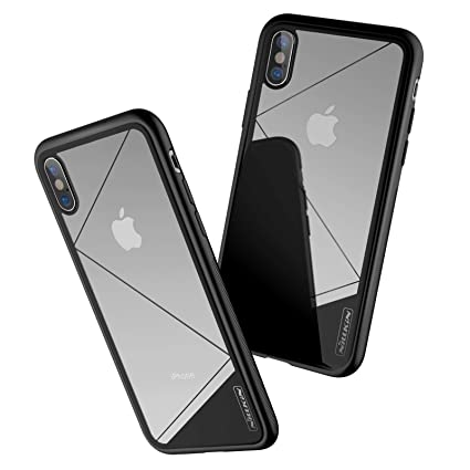 newest 629e4 1c0b7 Nillkin Case for Apple iPhone X Tempered Glass Case: Amazon.in ...