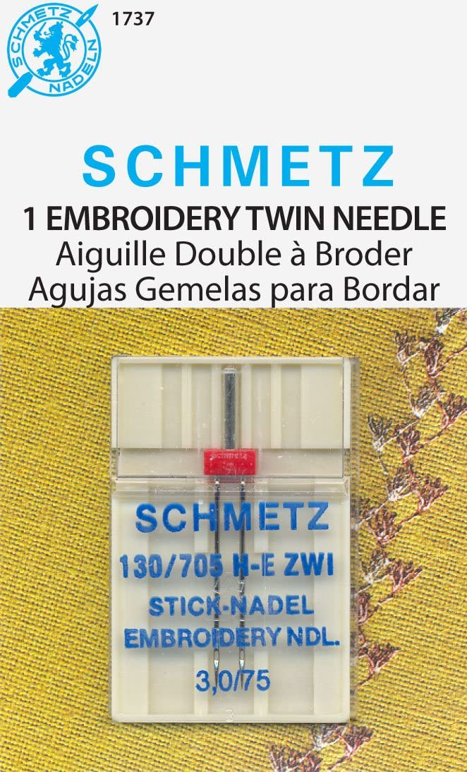 Schmetz Double Embroidery Machine Needle Size 2.0//75 1ct