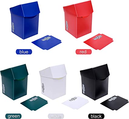 5 COLOR PACK DECK BOXES Magic Pokemon YuGiOh Card Storage Box Ultra Pro Cards