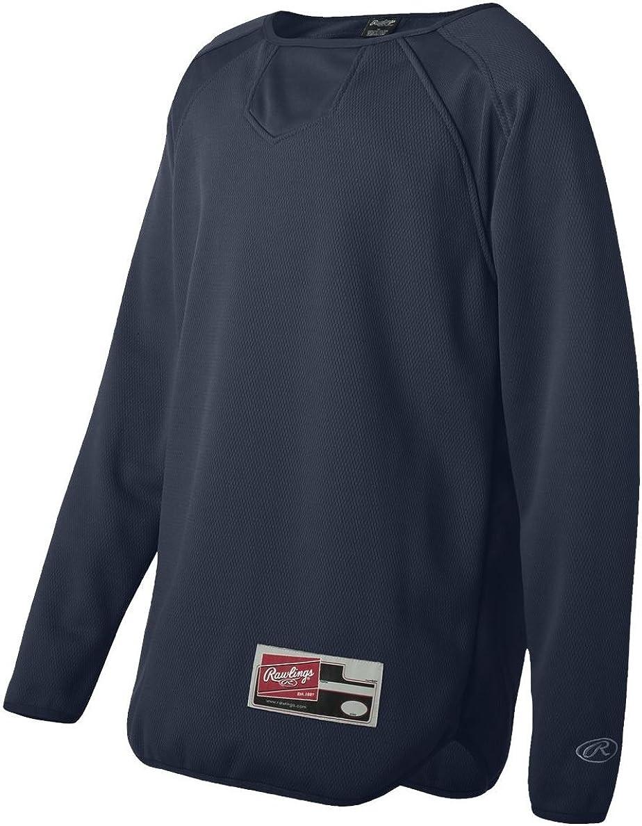 6705 Rawlings Long Sleeve Flatback Mesh Fleece Pullover
